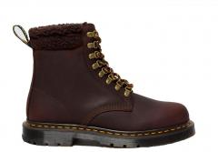Dr Martens 1460 DM's Wintergrip Leather Collar Ankle Boots Cocoa / Dark Brown