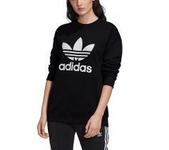 Adidas Originals Womens Trefoil Crew Sweatshirt Black / White