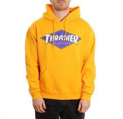 Thrasher Diamond Logo Hoodie Gold