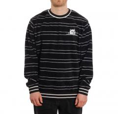 RIPNDIP Peeking Nermal Polar Fleece Crew Neck Black