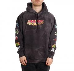 RIPNDIP Nerm Fighter Hoodie Black Lightning Wash