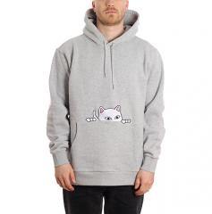 RIPNDIP Peeking Nermal Hoodie Heather Grey