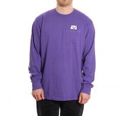 RIPNDIP Lord Nermal Pocket Tee Long Sleeve Purple