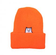 RIPNDIP Lord Nermal Ribbed Beanie Orange