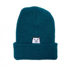 RIPNDIP Lord Nermal Ribbed Beanie Teal