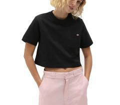 Dickies Womens Porterdale Cropped T-Shirt Black