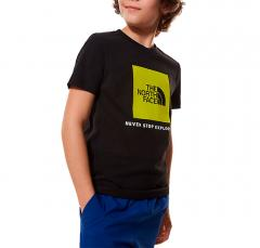 The North Face Youth Box Tee TNF Black / Spring Green