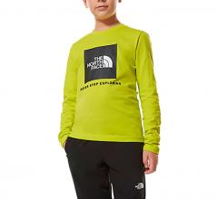 The North Face Youth Box LS Tee Sulphur Spring Green