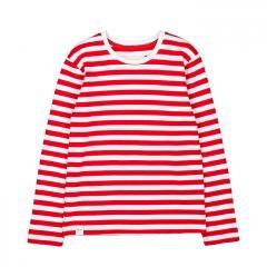 Makia Kids Verkstad Long Sleeve Red / White