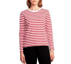 Makia Womens Verkstad Long Sleeve Red / White