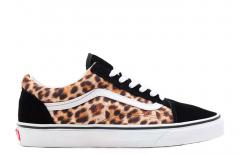 Vans Old Skool Leopard Black / True White