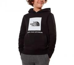 The North Face Youth Box Hoodie TNF Black / TNF White