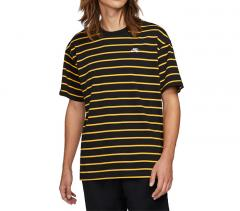 Nike SB Striped Skate T-Shirt Black / University Gold
