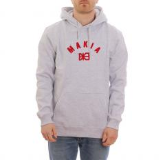 Makia Brand Hooded Sweatshirt Light Grey
