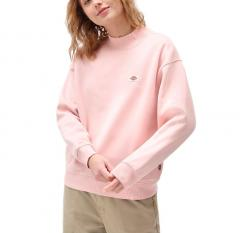 Dickies Womens Oakport High Neck Sweatshirt Light Pink