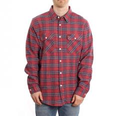 Brixton Lightweight Long Sleeve Crossover Flannel Cowhide
