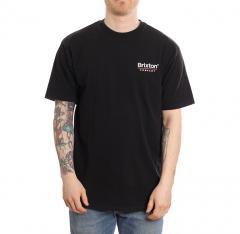 Brixton Palmer Line Standard T-Shirt Worn Wash Black