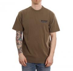 Brixton Palmer Line Standard T-Shirt Worn Wash Military Olive