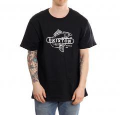 Brixton Mahlon Crossover Standard T-Shirt Black