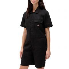 Dickies Womens Dovray Short Overall Black