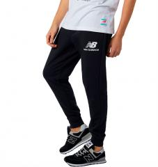 New Balance Essential Stack Logo Slim Sweatpant Black