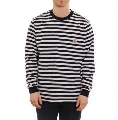 Carhartt WIP L/S Scotty Pocket T-Shirt Black / White