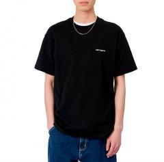 Carhartt WIP S/S Script Embroidery T-Shirt Black / White