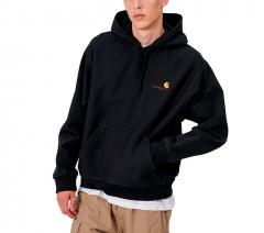 Carhartt WIP Hooded American Script Sweatshirt Black