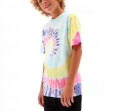 Vans Youth Tie Dye Easy Box T-Shirt Rainbow Spectrum