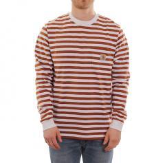 Carhartt WIP L/S Scotty Pocket T-Shirt Rum / White