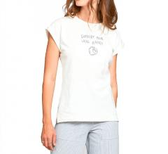 Dedicated Womens Local Planet T-Shirt Off White