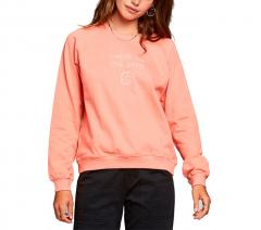 Dedicated Womens Local Planet Raglan Sweatshirt Coral