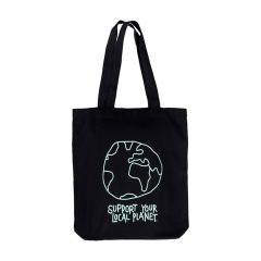 Dedicated Local Planet Tote Bag Black