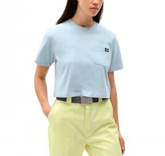 Dickies Womens Porterdale Cropped T-Shirt Fog Blue