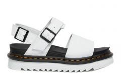 Dr Martens Voss Leather Strap Sandals White Hydro Leather