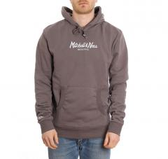 Mitchell & Ness Pinscript Hoodie Charcoal