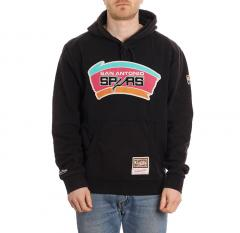 Mitchell & Ness San Antonio Spurs Worn Logo Hoodie Black