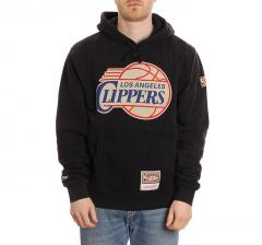 Mitchell & Ness LA Clippers Worn Logo Hoodie Black