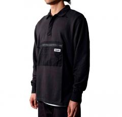 WAWWA Jonah Organic Rugby Sweatshirt Black