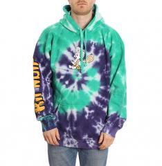 RIPNDIP RIPNSTONE Hoodie Purple & Teal Spiral Tie Dye