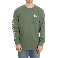 RIPNDIP Lord Nermal Pocket Long Sleeve Olive