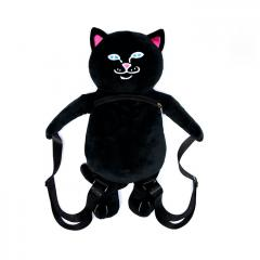 RIPNDIP Lord Nermal Plush Backpack Black