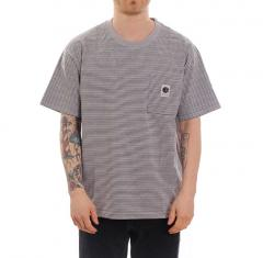Polar Skate Co. Stripe Pocket Tee Grey