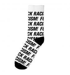 Dedicated Sigtuna Fuck Racism Socks White