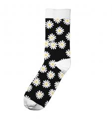 Dedicated Sigtuna Flowers Socks Black