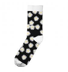 Dedicated Sigtuna Flowers Socks Black