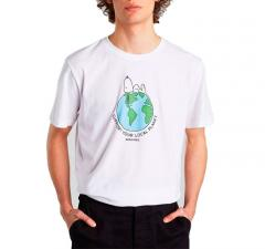 Dedicated Snoopy Earth T-Shirt White