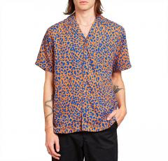 Dedicated Leopard Short Sleeve Shirt Light Brown