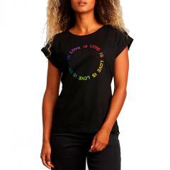 Dedicated Womens Love Circle T-Shirt Black