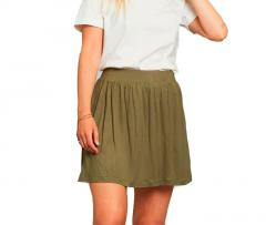 Dedicated Womens Arvika Jersey Skirt Leaf Green